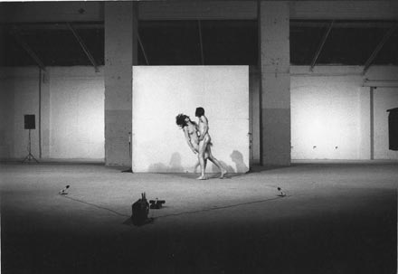 "Marina Abramović and Ulay's performance documentation, ""Relations in Space"", Venice Biennale, 1976 