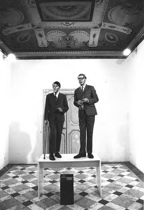 "Gilbert & George's performance documentation ""Living Sculpture"", Rome 1972 