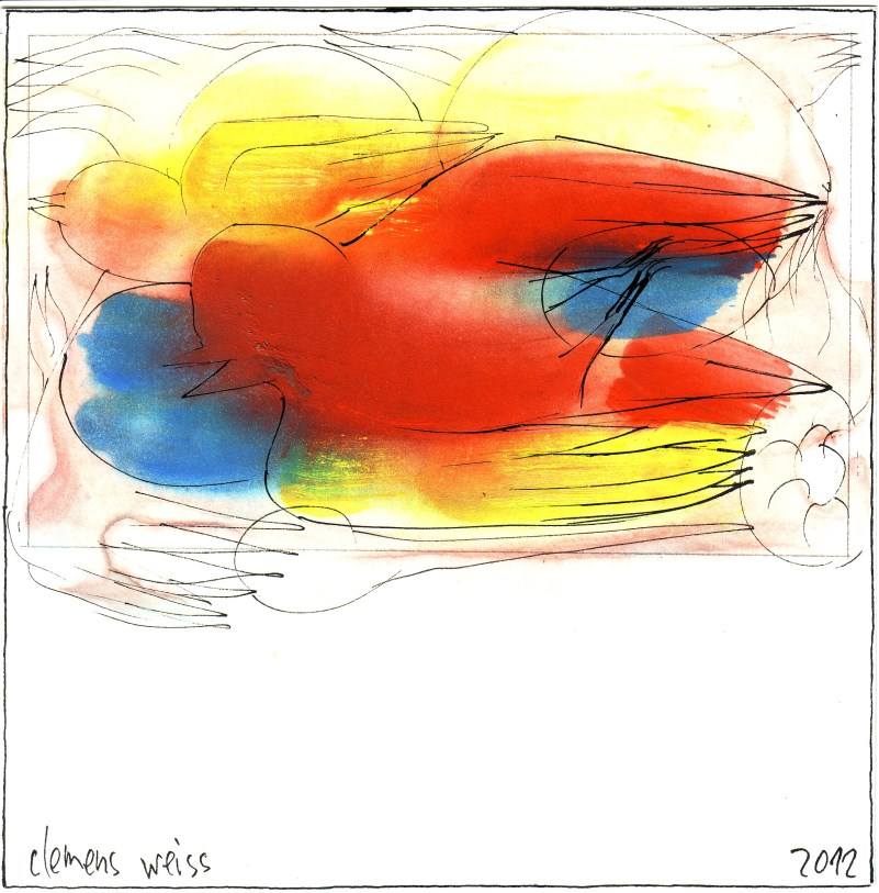 big birds | Clemens Weiss | New York, 2012 | ink + pigment on paper | 20 x 20cm