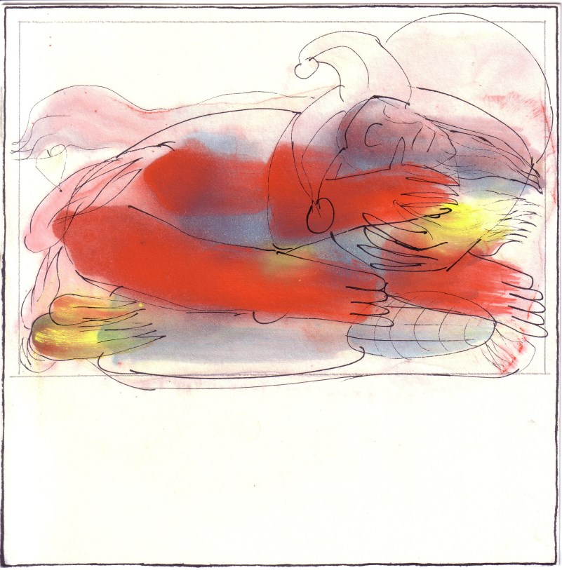 burning fool | Clemens Weiss | New York, 2012 | ink + pigment on paper | 20 x 20cm