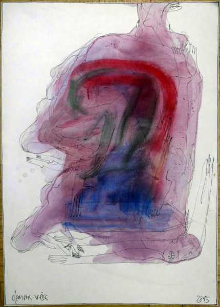 phantastic head | Clemens Weiss | New York, 2012 | ink + pigment on paper | 29,5 x 42cm